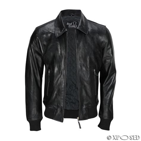 all black motorcycle jacket mens black soft real leather vintage collar bomber style