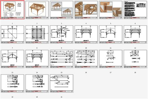 16x16 Shed Plans Free by 16x16 King Post Plan Timber Frame Hq