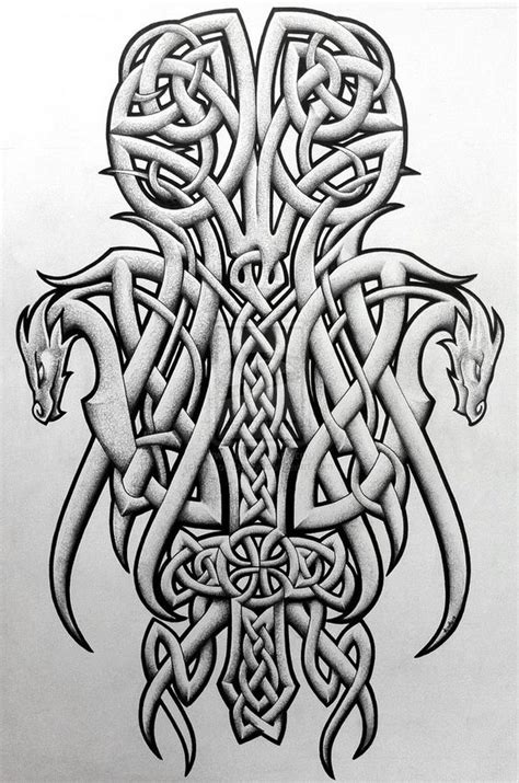 nordic dragon tattoo designs tattoos celtic norse celtic dragons and cross by