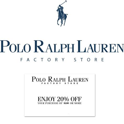 printable coupons polo outlet polo ralph lauren factory store outlet 20 off coupon ebay