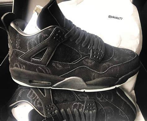 Air 4 Retro Kaws Black kaws air 4 black suede sle sneaker bar detroit