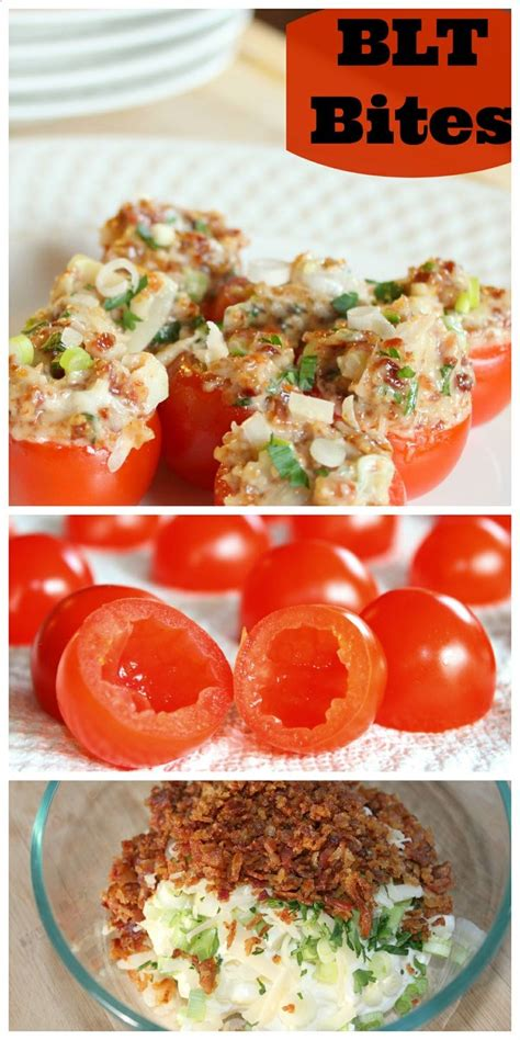 blt bites 1 pint of cherry tomatoes 1 3 cup of chopped green onion cup of mayonnaise cup of