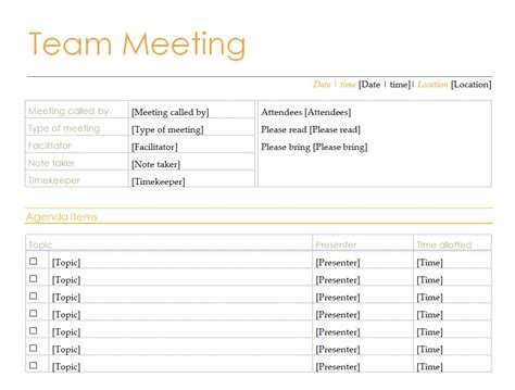 11 one on one meeting agenda template best agenda templates