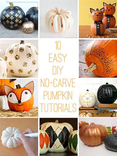 10 Easy No Carve Pumpkin 10 Easy Diy No Carve Pumpkin Ideas