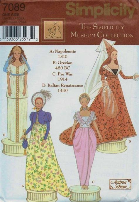 sewing patterns italian barbie doll costume sewing pattern italian renaissance