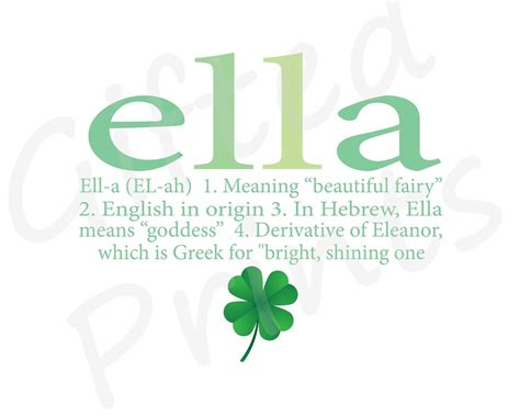 meaning in themes name meaning print shamrock theme