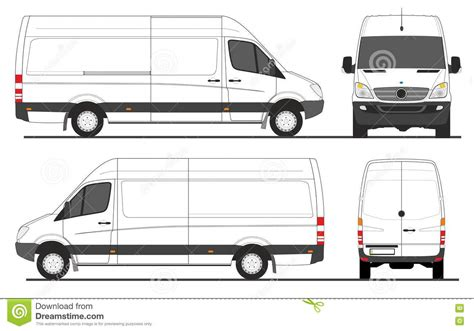 van layout vector mercedes sprinter van lwb stock vector illustration of