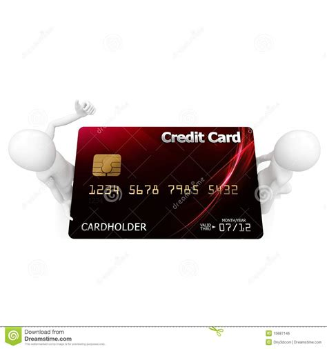 Holding Credit Card Template 3d Holding Credit Card Royalty Free Stock Image Image 15687146
