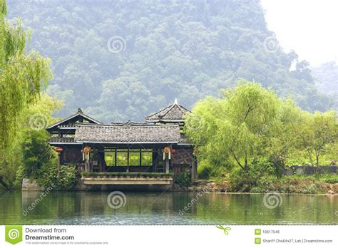 house of china 2 chinese riverside house royalty free stock image image 10617546