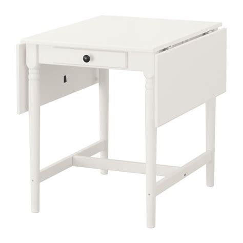ikea muddus drop leaf table white dining extendable ingatorp drop leaf table white 59 88 117x78 cm ikea