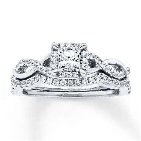 New Arrival Gendis Set By Zm bridal set 3 4 carat tw 14k white gold