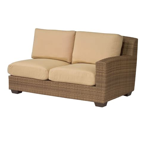 Saddleback Patio Furniture by Woodard Saddleback Right Arm Facing Wicker Loveseat S523021r