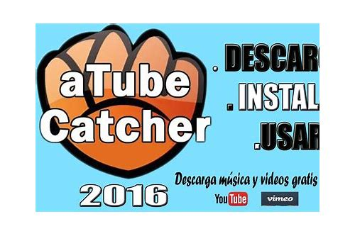 descargar videos sin audio atube catcher