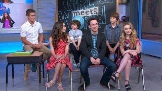 Cast Of Girl Meets World Takes Over Times Square Good   cast of girl meets world takes over times square vidinfo