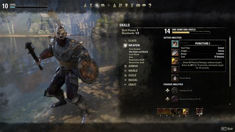 eso build planner skill calc for elder scrolls online elder scrolls online races abilities nord price