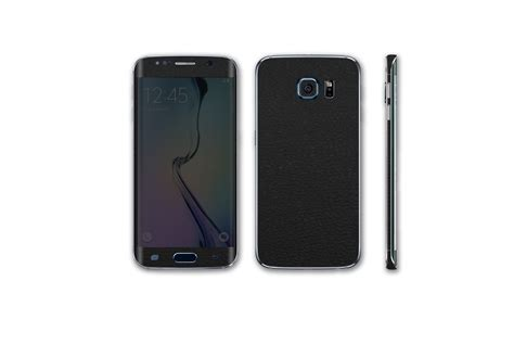 Skin 3m Black Leather Back Cover Samsung S6 Edge samsung galaxy s6 edge leather series stickerboy skins for protecting your mobile device