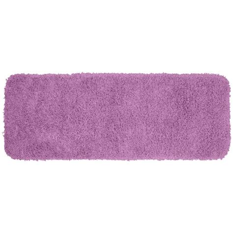 Purple Bathroom Rugs Garland Rug Jazz Purple 22 In X 60 In Washable Bathroom Accent Rug Ben 2260 09 The Home Depot