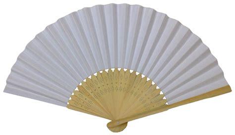Paper Folding Fans - folding paper fan 8 25 quot white