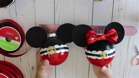mickeyunlimited electric christmas decorations diy mickey and minnie ornament