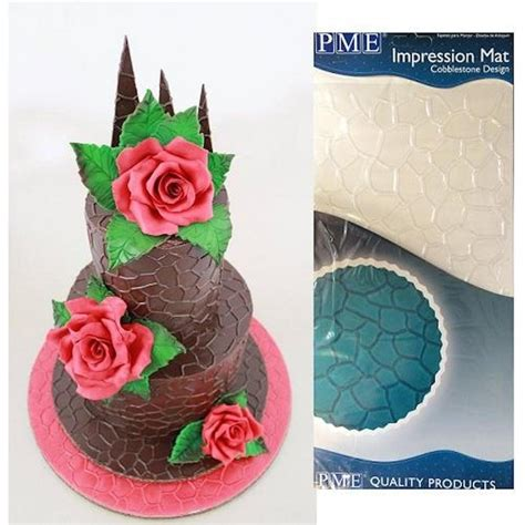 Impression Mat For Cakes by Pme Cobblestone Design Sugarpaste Icing Impression Mat 12