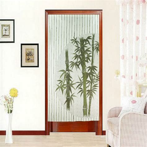 curtain cover 170x85cm polyester bamboo print door curtain tapestry room