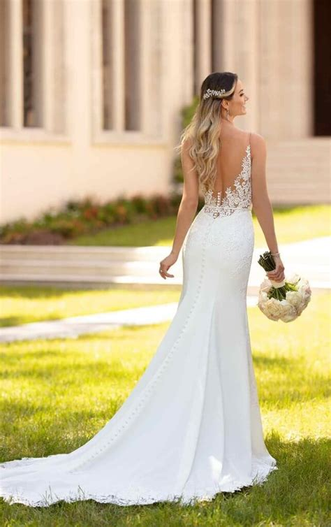 Simple Classic Satin Wedding Dress