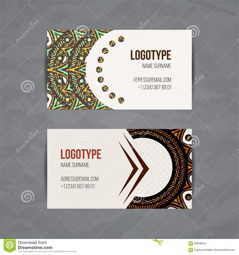 business card template circle set of vector design templates business card with floral