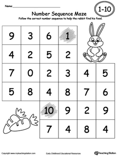 sequence numbers 1 10 printable free worksheets 187 numbers 1 10 printable free math