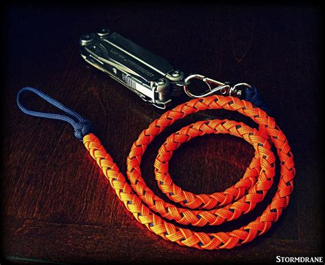 long paracord lanyard attached  leatherman wave multitool paracord creations pinterest