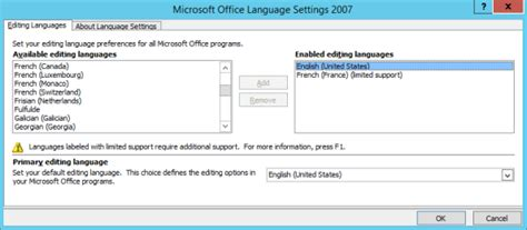 microsoft office 2007 support add a language or set language preferences in office 2007