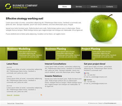 Basic Css Template Business Cartel Free Css Templates Simple Css Templates