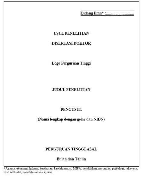 format proposal bantuan dana hibah panduan penelitian disertasi doktor hibah penelitian