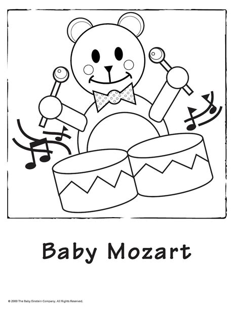 baby vire coloring pages baby einstein free coloring pages