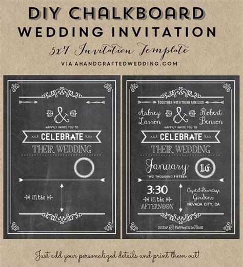 25 best ideas about chalkboard wedding invitations on