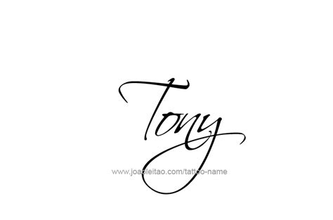 Tattoo Name Tony | tony name tattoo designs