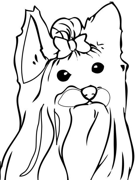 yorkie coloring pages color a puppy coloring book yorkshire terrier coloring page handipoints