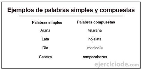 guardarropa oraciones ejercicios de palabras simples y compuestas