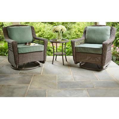 swivel wicker patio furniture hton bay grey all weather wicker patio