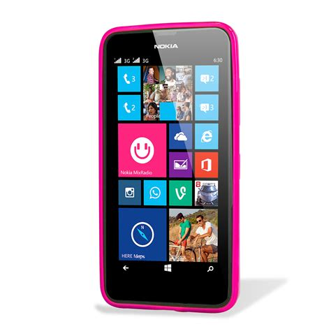 nokia mobile 630 custodia flexishield per nokia lumia 635 630 rosa