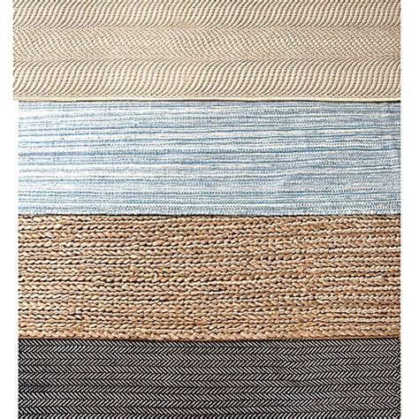 Blue Woven Rug by Herringbone Swedish Blue Woven Cotton Rug Maine Cottage 174