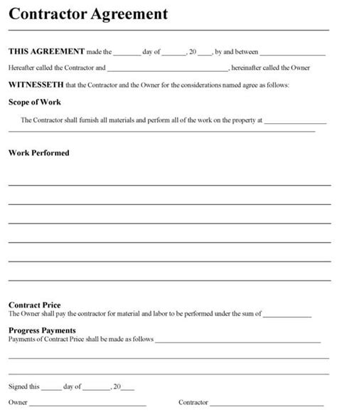contractor agreement template doliquid