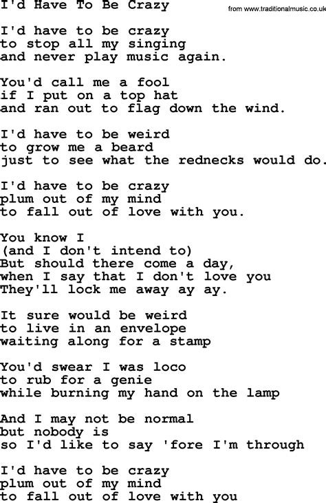 song lyrics willie nelson willie nelson song i d to be lyrics