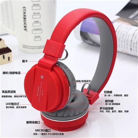 Headset Earphone Headfree Karakter Disney Duck 1 bluetooth headphone hifi ear headband earphone headset built in microphone mp3 fm sh12