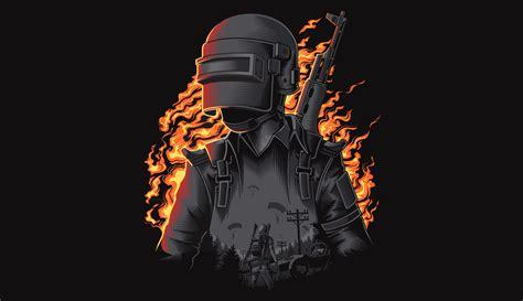 pubg fire illustration wallpaper hd games  wallpapers