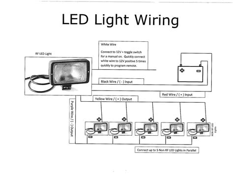 parallel wiring 12v led lights circuit diagram wiring