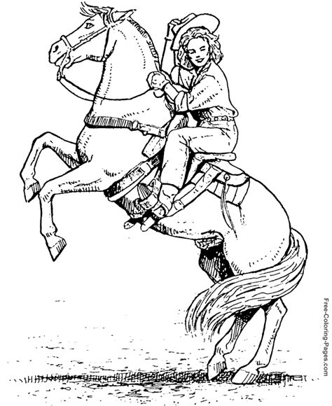 pony ride coloring pages horses coloring sheet free rider sheets to color
