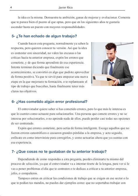 preguntas dificiles en una entrevista 10 preguntas dif 237 ciles en una entrevista de trabajo