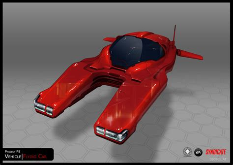 syndicate car syndicate concept hover car red by torvenius deviantart