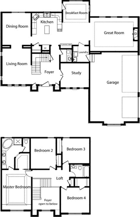 floor plans two story homes 2 story polebarn house plans two story home floor plans