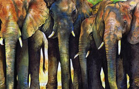 painting elephant the gallery for gt elephant paintings acrylic
